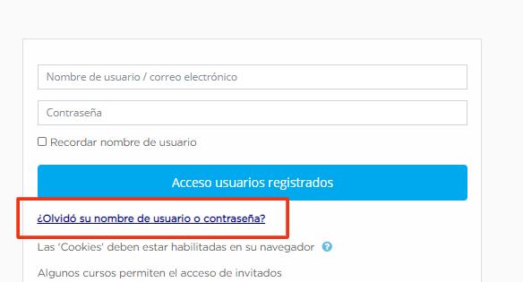 formulario de acceso